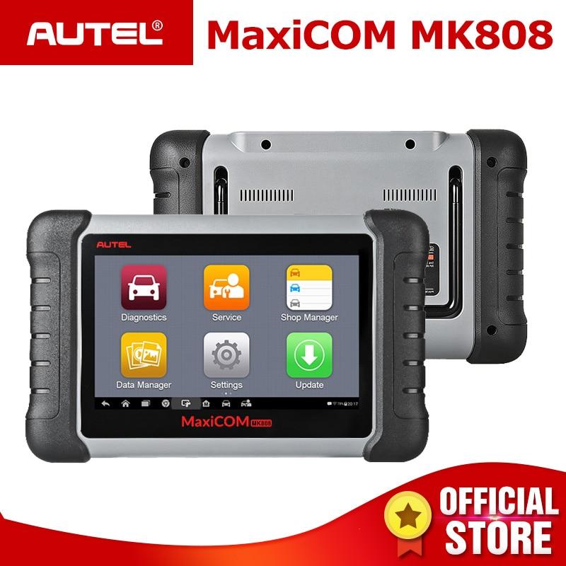 Autel оригинальный MaxiCOM MK808 инструмент диагностики 7-дюймовый ЖК-дисплей Сенсорный экран датчиком освещённости для яркости автоматической нас...