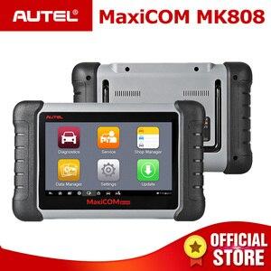 Image 1 - Autel MaxiCOM MK808 OBD2 スキャナー診断スキャンツールすべてのシステム診断サービス機能コードリーダー MD802 + MaxiCheck プロ