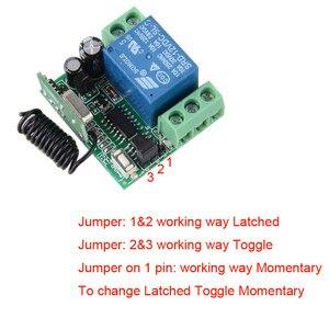 Image 4 - DC 12V 10A 1CH bezprzewodowy rf pilot zdalnego sterowania przełącznik 2 sztuk nadajnik z baterią + odbiornik dostęp/System drzwi 20 sztuk/partia