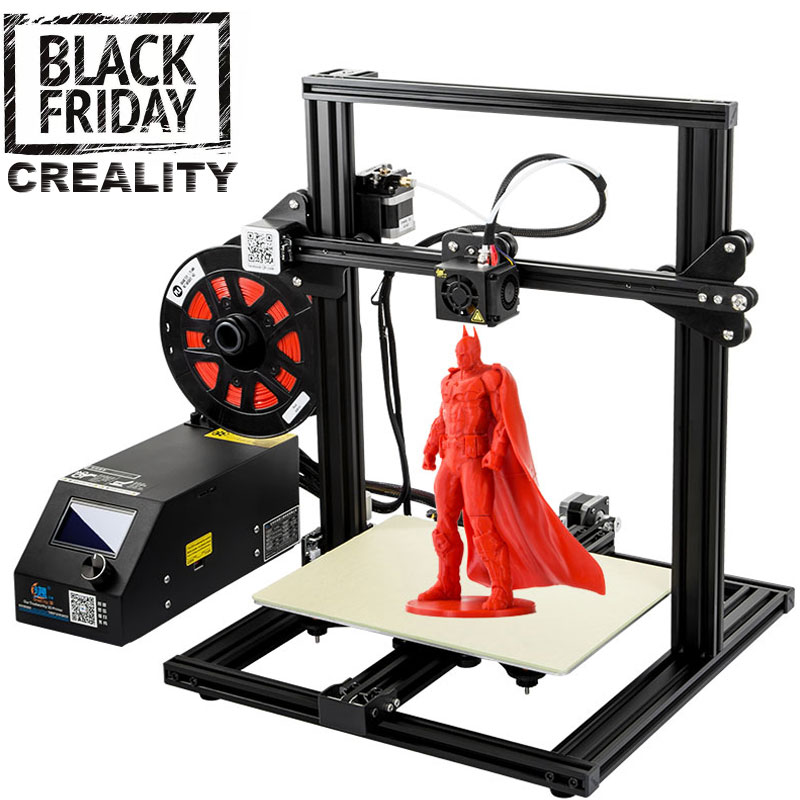 CREALITY 3D CR-10 Mini Semi Assembled Aluminum 3D Printer Kit Printing Size 300*220*300mm Resume Printing Power Off Function