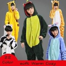 En gros de Bande Dessinée de Flanelle Automne Point Panda Pyjamas Pour Enfants À Capuche Filles Garçons Pyjama Enfant Cosplay Onesies Animaux de Nuit