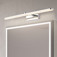 Modern Stainless Steel LED vanity front mirror light bathroom makeup wall mounted sconces bedroom lighting fixtures