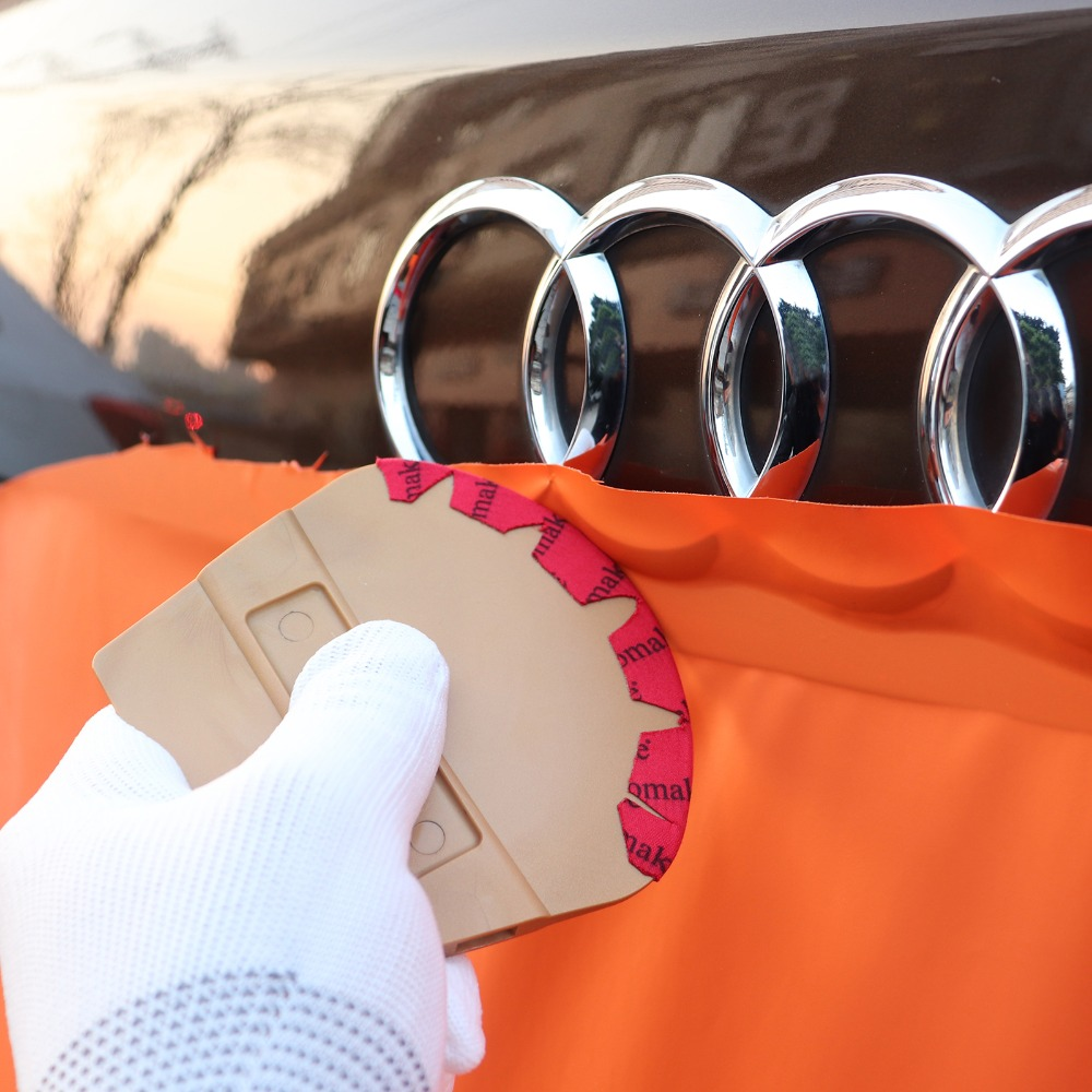 FOSHIO Magnetic Squeegee Car Sticker Vinyl Wrap Microfiber Felt Scraper Window Tint Tool Magnet Carbon Fiber Film Applicator