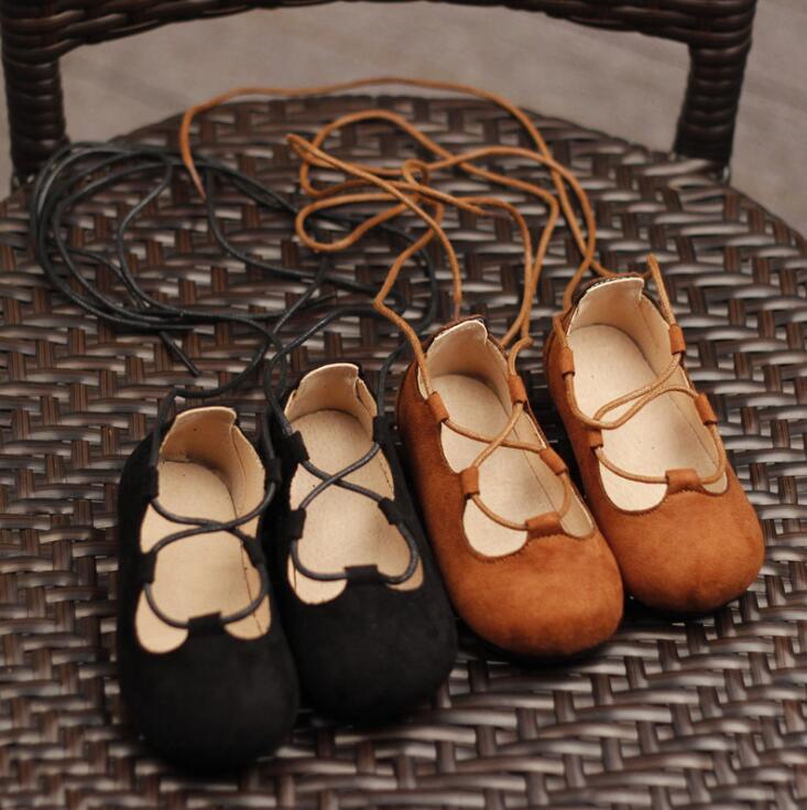 2019 New Galadiator Summer sandals Genuine Suede leather Girls Children Sandals Baby Girls Shoes Kids Lace-up sandals