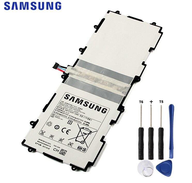 Originale Per Samsung Tablet Batteria Per Galaxy Tab 10.1 S2 10.1 N8020 GTN8013 P7510 P7500 P5110 P5100 N8000 N8010 SP3676B1A 7000 mah