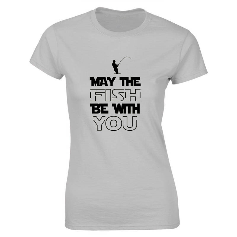 Hipster T Shirts Women 39 S May The Fish Be With You Cool O Neck Short Sleeve Regular Tee Shirt in T Shirts from Women 39 s Clothing