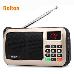 Image 3 - Rolton W405 Portable FM Radio USB Wired Computer Speaker HiFi Receiver LED Display Support TF Play With Flashlight Money Verify