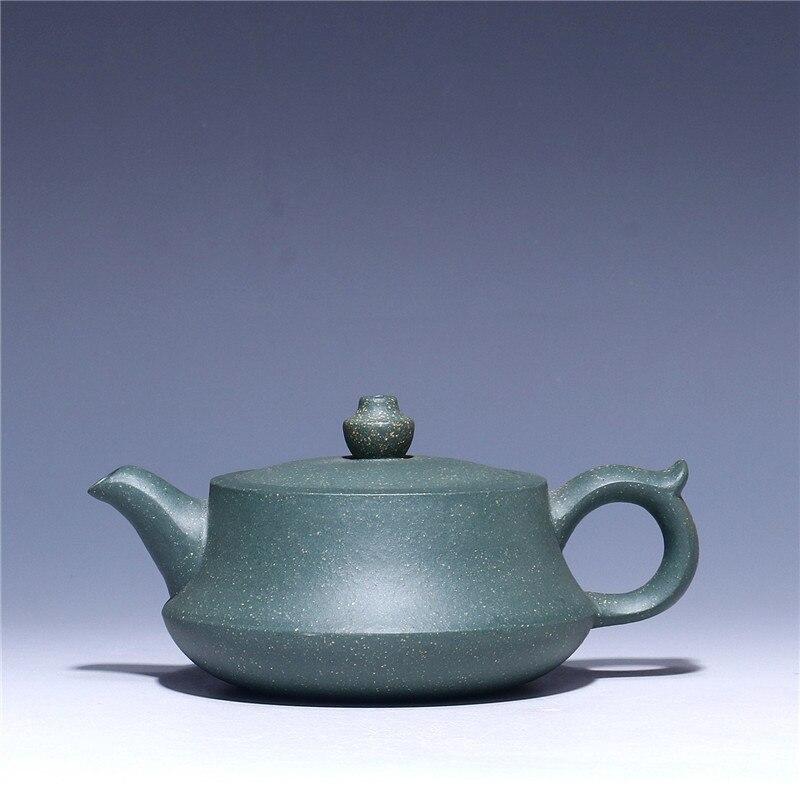 170 мл зеленый грязевой керамический чайник оптовая продажа сырой руды фиолетовая глина pu'er черный чай горшок Исин Zisha чай горшок Бесплатная ...