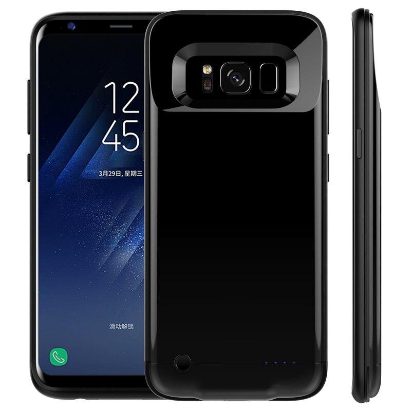 imágenes para 4200/5200 mAh Cargador de Batería Externa Para Samsung Galaxy S8 S8 Plus Ultra Delgado Banco de la Energía de Reserva Portable Casos de la cubierta