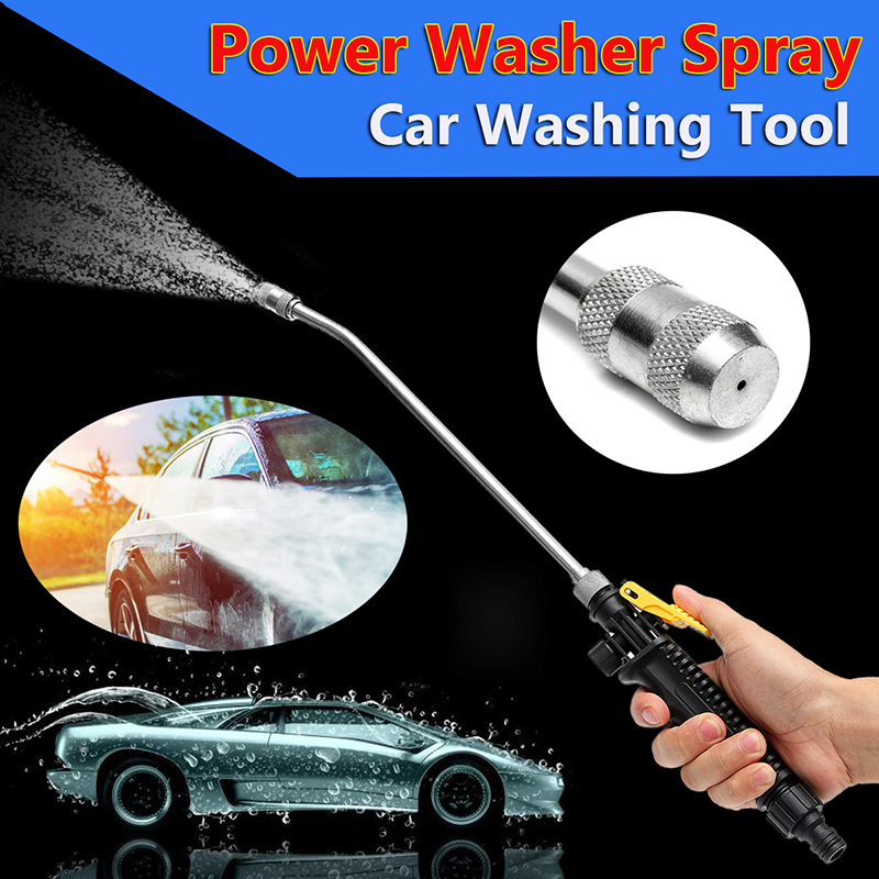 45CM Stainless Steel Car Power Washer Spray Water Gun High Pressure Cleaning Tools with Long Pole for Air Conditioning45CM Stainless Steel Car Power Washer Spray Water Gun High Pressure Cleaning Tools with Long Pole for Air Conditioning