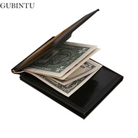 Easy Carry Mutifunctional Men Leather Billfold Clamp Luxury Brand Male Wallets Black Coffee 2 Hold Purse