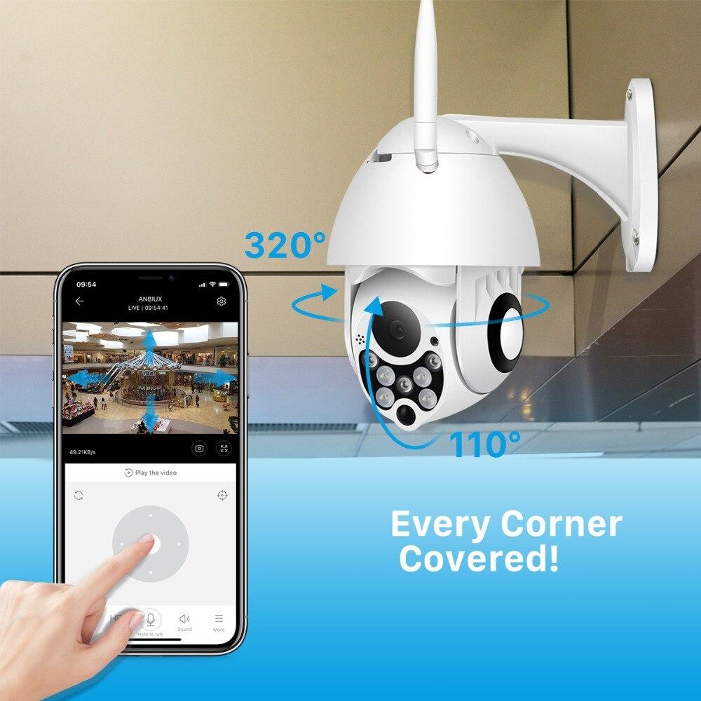 BESDER 1080P Wifi PTZ Security Camera Outdoor Speed Dome Camera IP66 Waterproof Wireless Home Safe IP