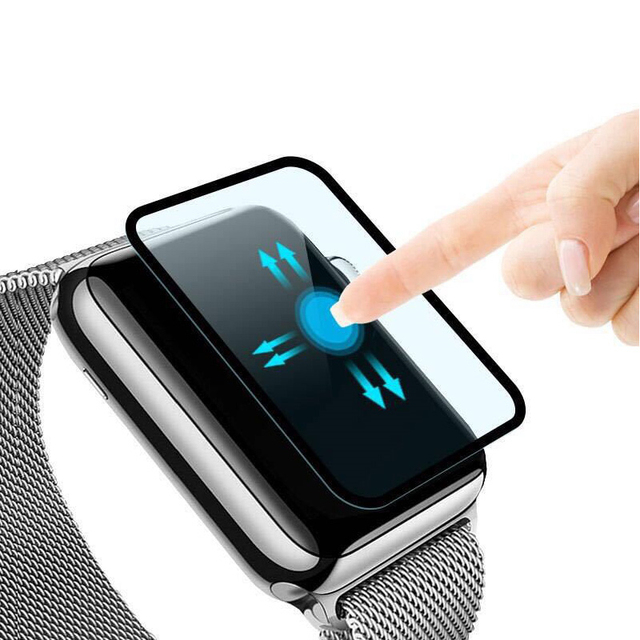 1169d19f5e5 Pelicula de vidro Cobertura Completa 3D Protetor de Tela De Vidro Temperado  para A Apple Iwatch