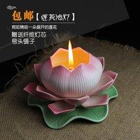 1 adet Lotus Lamba Dekoratif Fener Mumluk Adak Mumluklar Şamdan Centerpieces Düğün