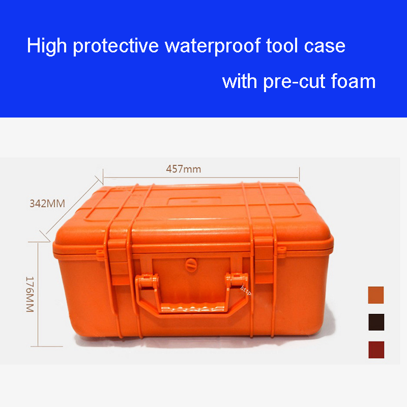 High Quality Tool Case Toolbox Impact Resistant Waterproof Case 43*29*16CM Security Equipment Instrument Box With Pre-cut Foam