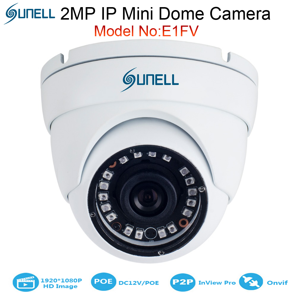 sunell 2mp 1080p eyeball ir mini dome ip camera 15m infrared ip66 poe 12v dc dwdr. Black Bedroom Furniture Sets. Home Design Ideas