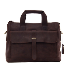 ROCKCOW Antique Style Genuine Leather Mens Briefcase Messenger Bag Laptop Shoulder Bag 9075