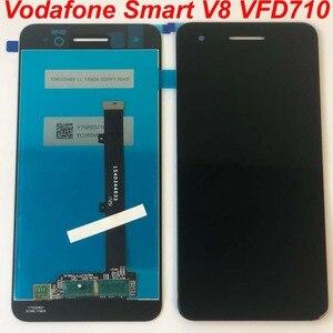 Image 1 - الأصلي LCD الأسود ل فودافون الذكية V8 VFD710 VFD 710 شاشة الكريستال السائل محمول بشاشة لمسية 5 بوصة محول الأرقام الجمعية استبدال أجزاء