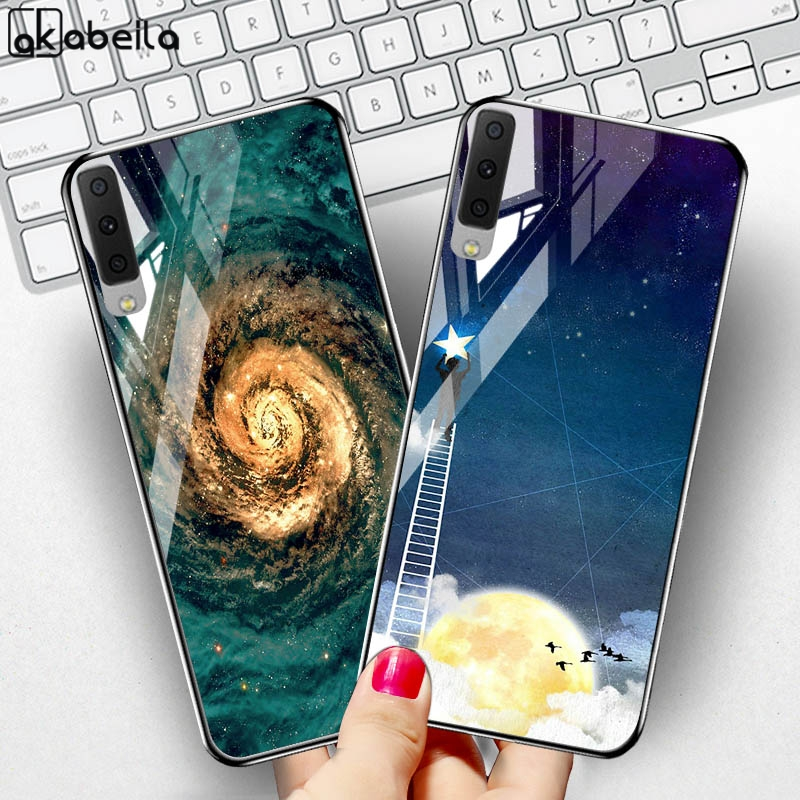 Tempered Glass Case SFor Samsung Galaxy A7 2018 Cases Star Space Bumper Samsung A50 A70 A30 A20 A40 A60 A6 A8 Plus J7 2017 Cover-in Fitted Cases from Cellphones & Telecommunications on Aliexpress.com | Alibaba Group
