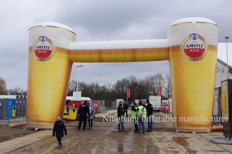 Arco inflable gigante de envío gratis 6 M de alto, 10 M de ancho para la promoción de la cerveza.