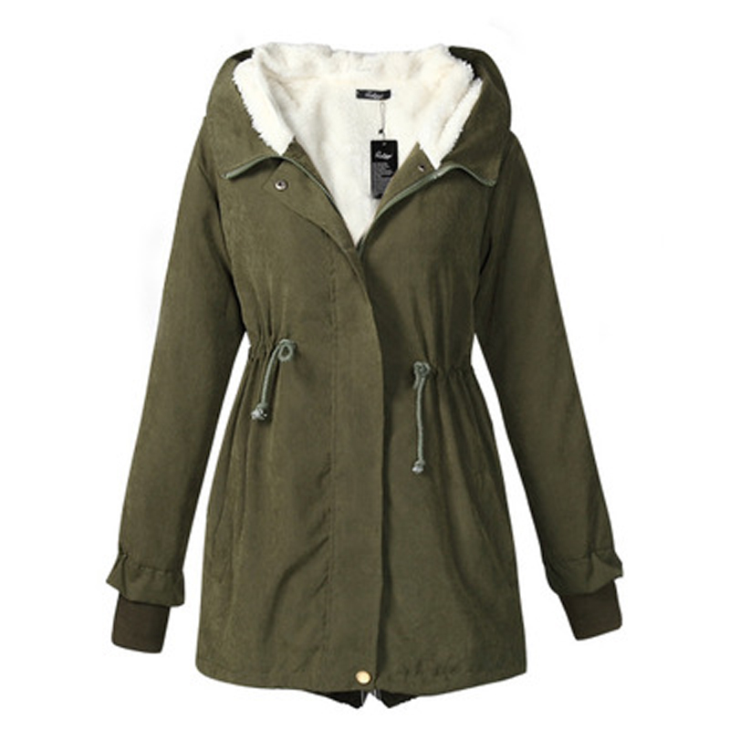 Plus Size Army Green Jacket