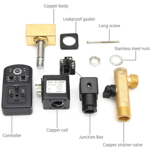 Image 2 - מגוף ניקוז 1/2 אינץ Dn15 חשמלי טיימר אוטומטי מים שסתום סולנואיד 2 דרך אוויר מדחס עיבוי באיכות גבוהה