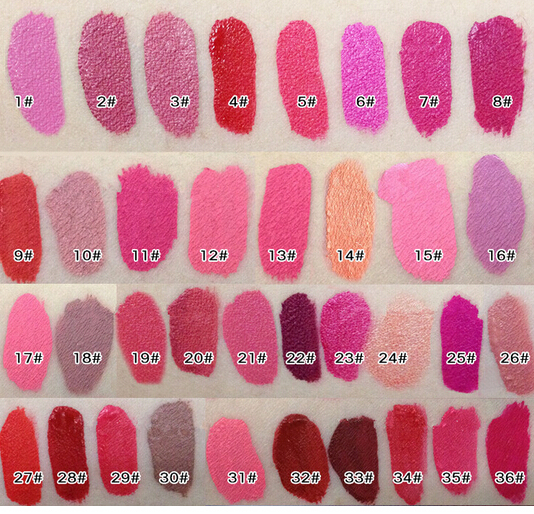 2015 Hot New Lipgloss 24 Colors Waterproof Liquid Makeup Lip Stick Lip Pencil Matte Lipstick Lip Gloss Pen Batom Liquido