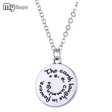 My Shape Antique Silver Round Rotate Letter Pendant Necklaces Engraved The Earth Charm Necklace Zinc Alloy Jewelry Accessories
