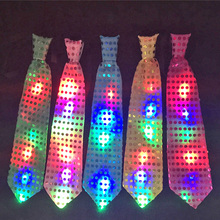 15pcs/lot Newest design fashion Led flashing necktie light up tie novelty men suit ties performance decoration party supplies