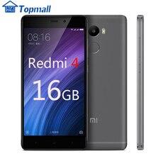 """מקורי xiaomi red rice 4 2 gb ram 16 gb rom snapdragon 430 טלפון נייד 4100 mah סוללה טביעות אצבע redmi 4 מזהה 5.0 """"גוף מתכת(China (Mainland))"""
