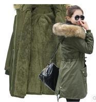 2018 Winter Women Jackets Thicker Fur Collar Parket Cotton Clothes Large Size 4XL