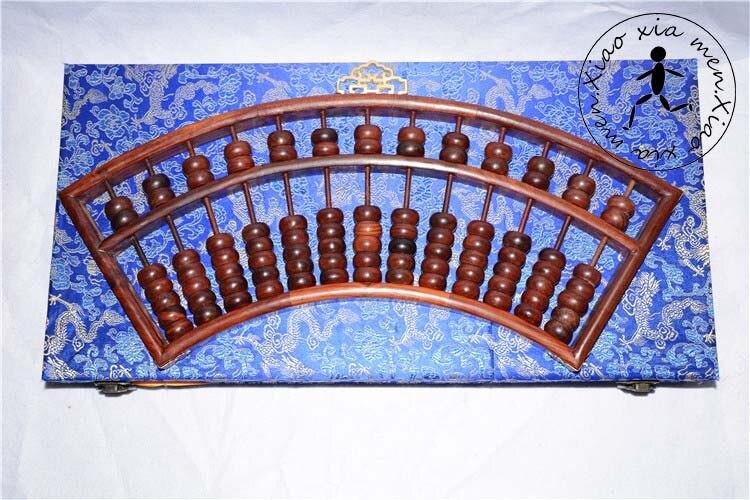 Abacus en bois de haute qualité professionnel chinois vieux soroban outil en mathématiques docration artisanat avec boîte x057