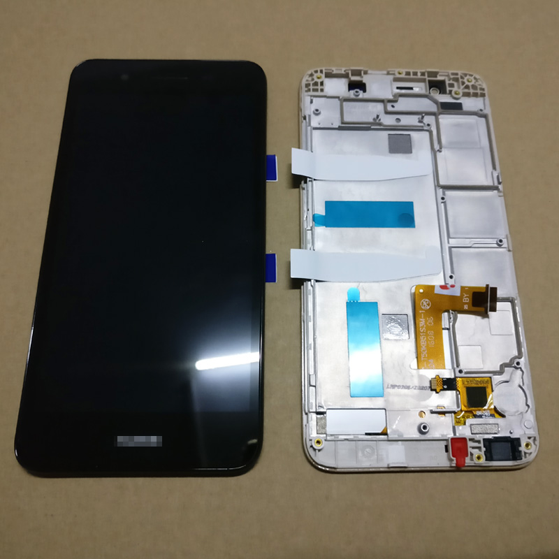 imágenes para Para Huawei Disfrutar 5S GR3 TAG-L01 TAG-L03 TAG-L13 TAG-L22 TAG-L21 LCD Display + Digitalizador de Pantalla Táctil + Asamblea Con Marco