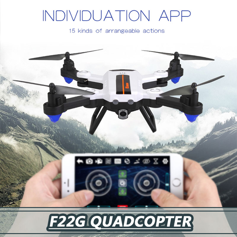 720p APP Remote LED Lighting One Key Take Off Speed Adjustable Intelligent Durable Aircraft Drone One Key Landing Altitude Hold