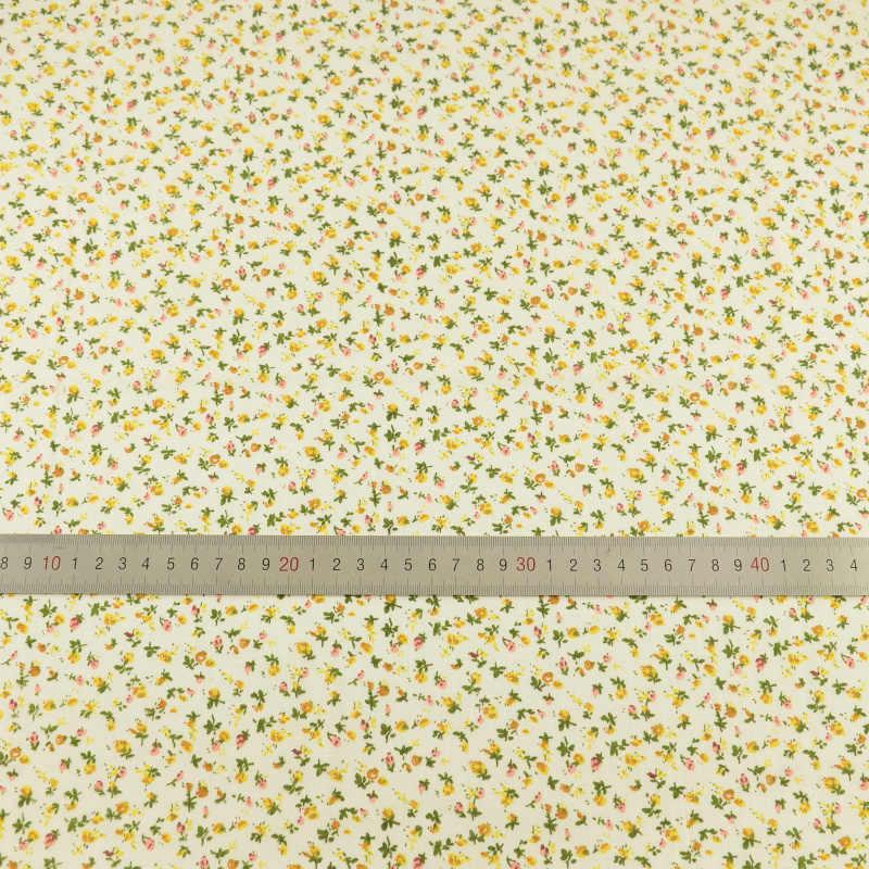 Patchwork tkaniny światła żółta tkanina bawełniana Fat Quarter tkanki rzemiosło lalki tekstylne tkaniny do szycia Telas Tecido Tilda dzieła sztuki