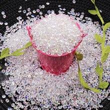 Хит 1000 шт 4,2 мм Акриловые Алмазные хрустальные блестящие прозрачные конфетти для свадебной вечеринки Конфетти украшения стола разлетающиеся бусины