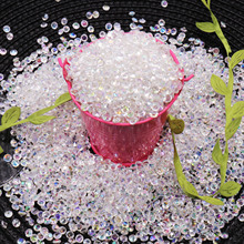 Hot 1000pcs 4.2mm Acrylic Diamond Crystal Bling Transparent Confetti For Wedding Party Decoration Confetti Table Scatter Beads
