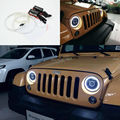 "For Jeep Wrangler CJ TJ JK 7"" Headlamp Excellent angel eyes Ultra bright headlight illumination CCFL Angel Eyes kit Halo Ring"