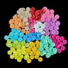 Полимерная пуговица для шитья скрапбукинга цветок разные на два отверстия швейные кнопки аксессуары для скрапбукинга Одежда DIY украшение дома