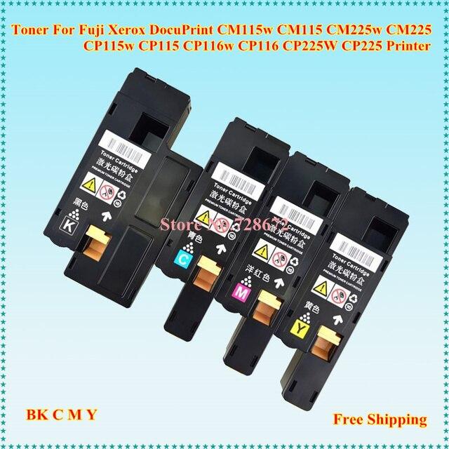 US $109 19 8% OFF|3SET Toner Cartridge For Fuji Xerox DocuPrint CM115 CM225  CP115 CP116 CP225 CT202264 CT202265 CT202266 CT202267-in Toner Cartridges