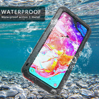 360 Hard Shockproof Cover for Samsung Galaxy A70 Case Waterproof Armor Aluminum Metal Case for Samsung A70 Full Gorilla Galss