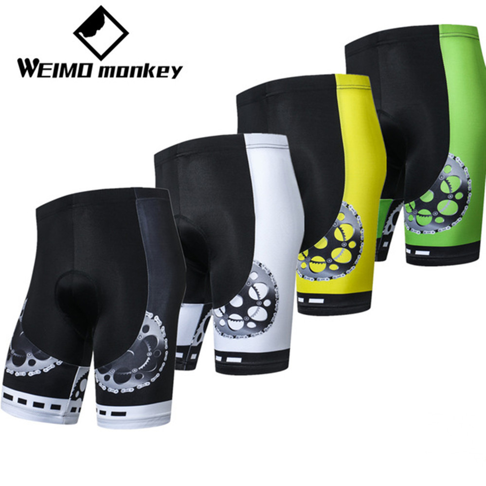 Mountain Cycling Shorts Men/Women's Bike Short 2018 3D Padded Pro Team MTB Clothing Bicycle Bottom Road Youth Wear Black Yellow