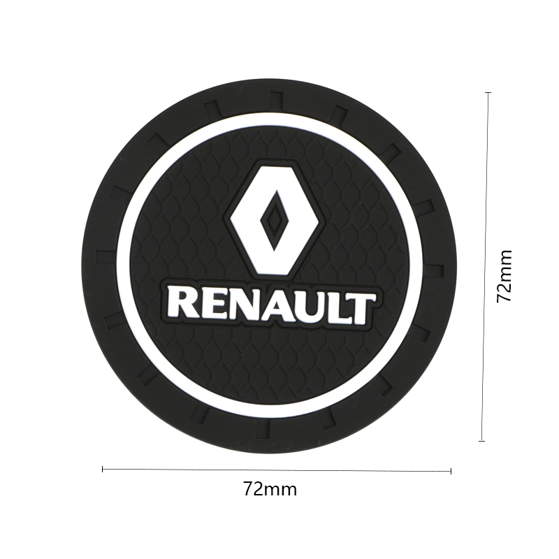 Image 5 - 1pcs Car Styling PVC Car non slip coaster Mat Case For Renault duster megane 2 megane 3 capture fluence clio kadjar scenic 2-in Anti-Slip Mat from Automobiles & Motorcycles