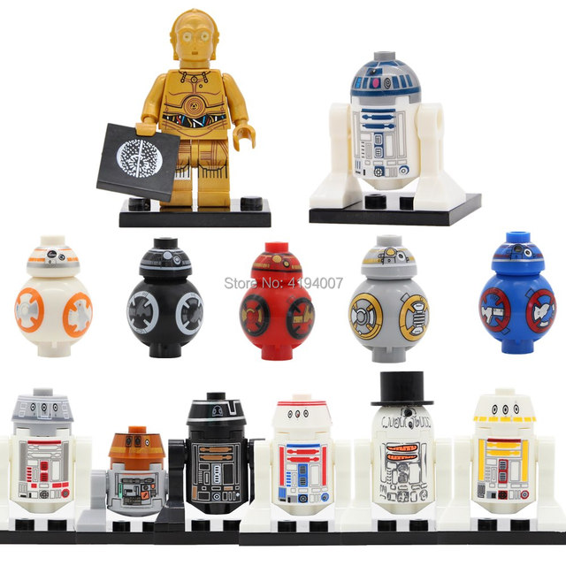 Single Sale C3PO R2D2 Robot C-3PO R2-D2 BB8 Building Blocks Models Bricks Kits Toys for Children