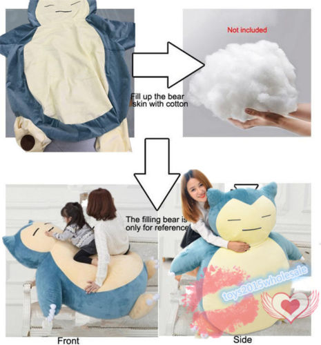 Pleasant 59 Plush Anime Soft Stuffed Animal Doll Snorlax Plush Toys Pillow Bed Only Cover With Zipper For Kid Gif Doll Childrens Day Pabps2019 Chair Design Images Pabps2019Com