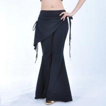 Spodnie do tańca brzucha Lady kostium taniec Tribal Bellydance ubrania damskie spodnie z wysokim stanem praktyka ubrania ubrania taneczne