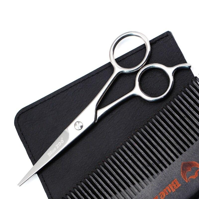 Stainless Steel Beard Scissor for Barber Home Use Black Mini Size Shaving Shear Beard Trimmer Mustache Scissor Hot Sale 4