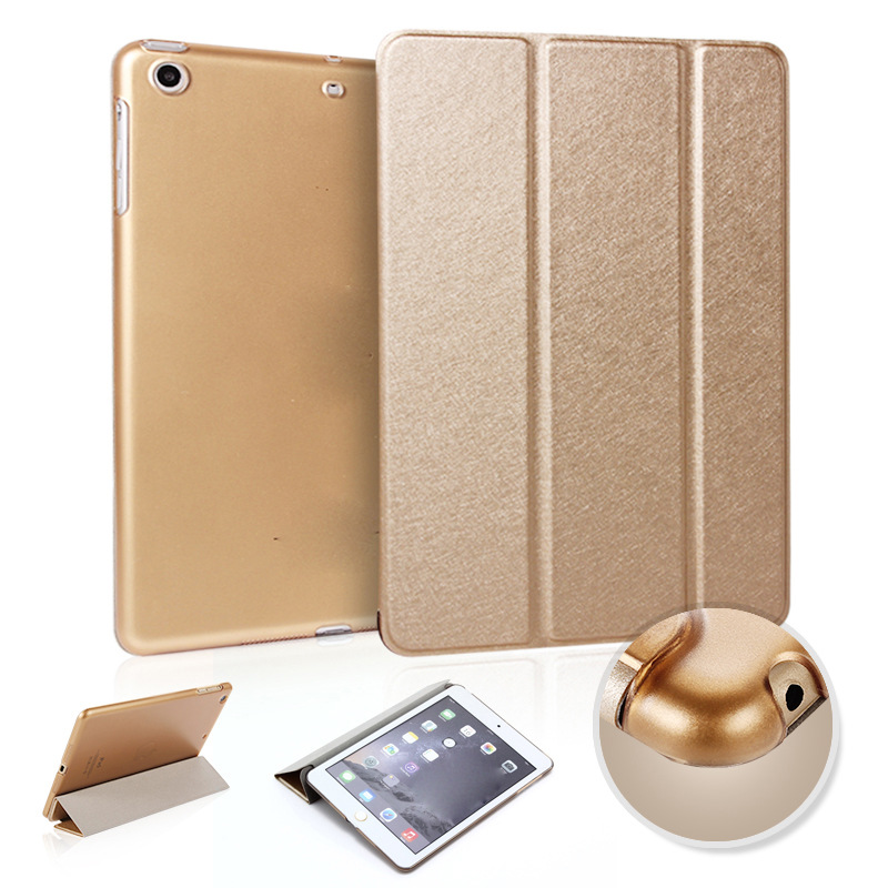 Protective Cover Silk Pattern Thin Leather Case For Pad 2 3 4 5 6 Pro9.7 Pro10.5 Pro12.9 ...