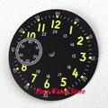 38.9mm black dial Verde marca luminnous ajuste eta 6497 movimento mostrador do relógio relógio de hora Dual zoon mes D47