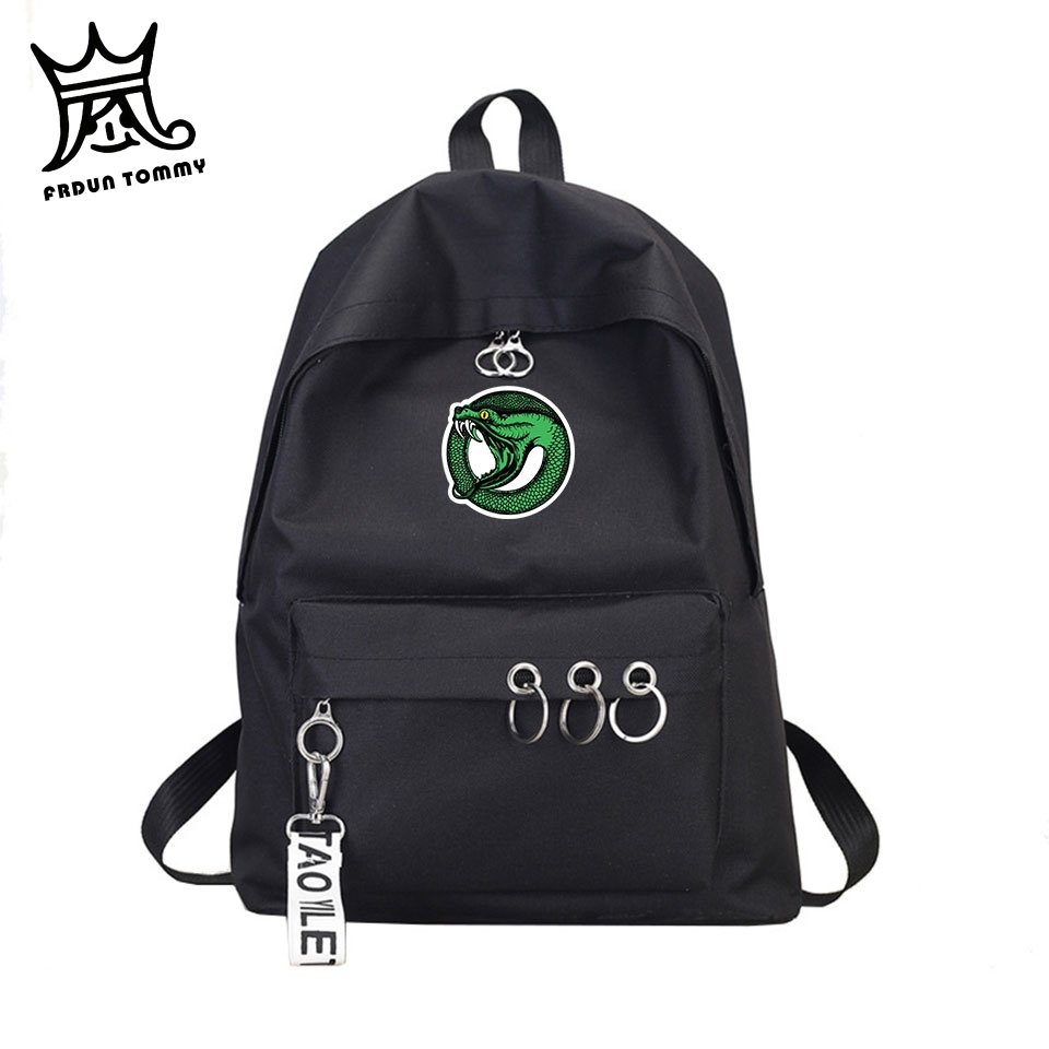 Riverdale Backpack Travel-Bag Canvas School Harajuku Tommy Women Frdun Key-Ring Tv-Show